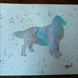 Golden Retriever Watercolor Painting